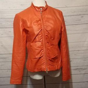 Wilsons Leather Maxima Orange Leather coat size L